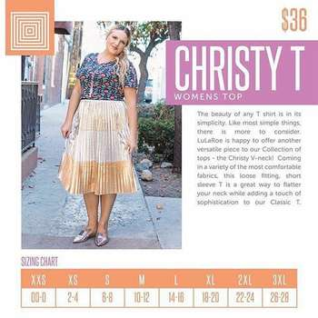 Christy T (Sizing Chart)
