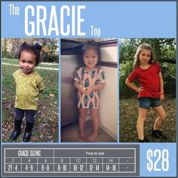 Gracie (Sizing Chart)