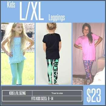 Kids Leggings (Sizing Chart)