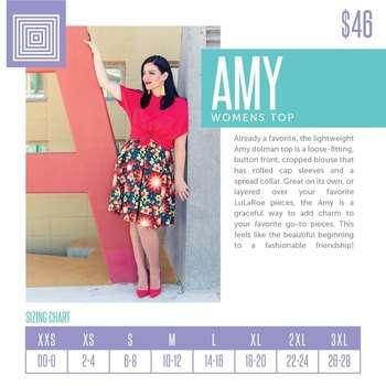 Amy (Sizing Chart)