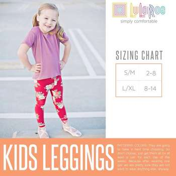 LuLaRoe Collection for Disney Kids Leggings (Sizing Chart)