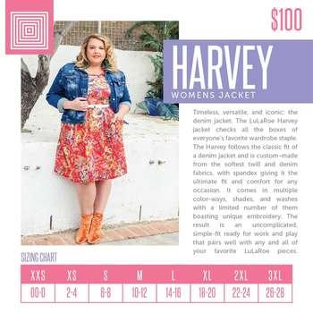 Harvey (Sizing Chart)