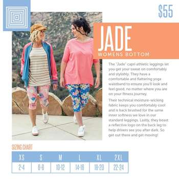 Jade (Sizing Chart)