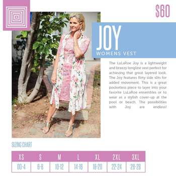 Joy (Sizing Chart)