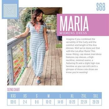 Maria (Sizing Chart)