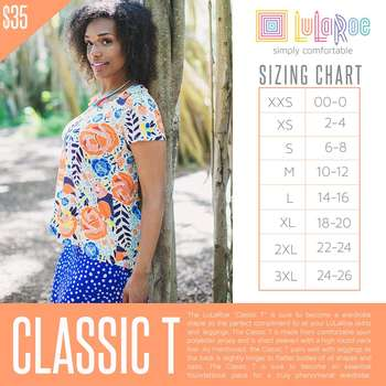 LuLaRoe Collection for Disney Classic T (Sizing Chart)